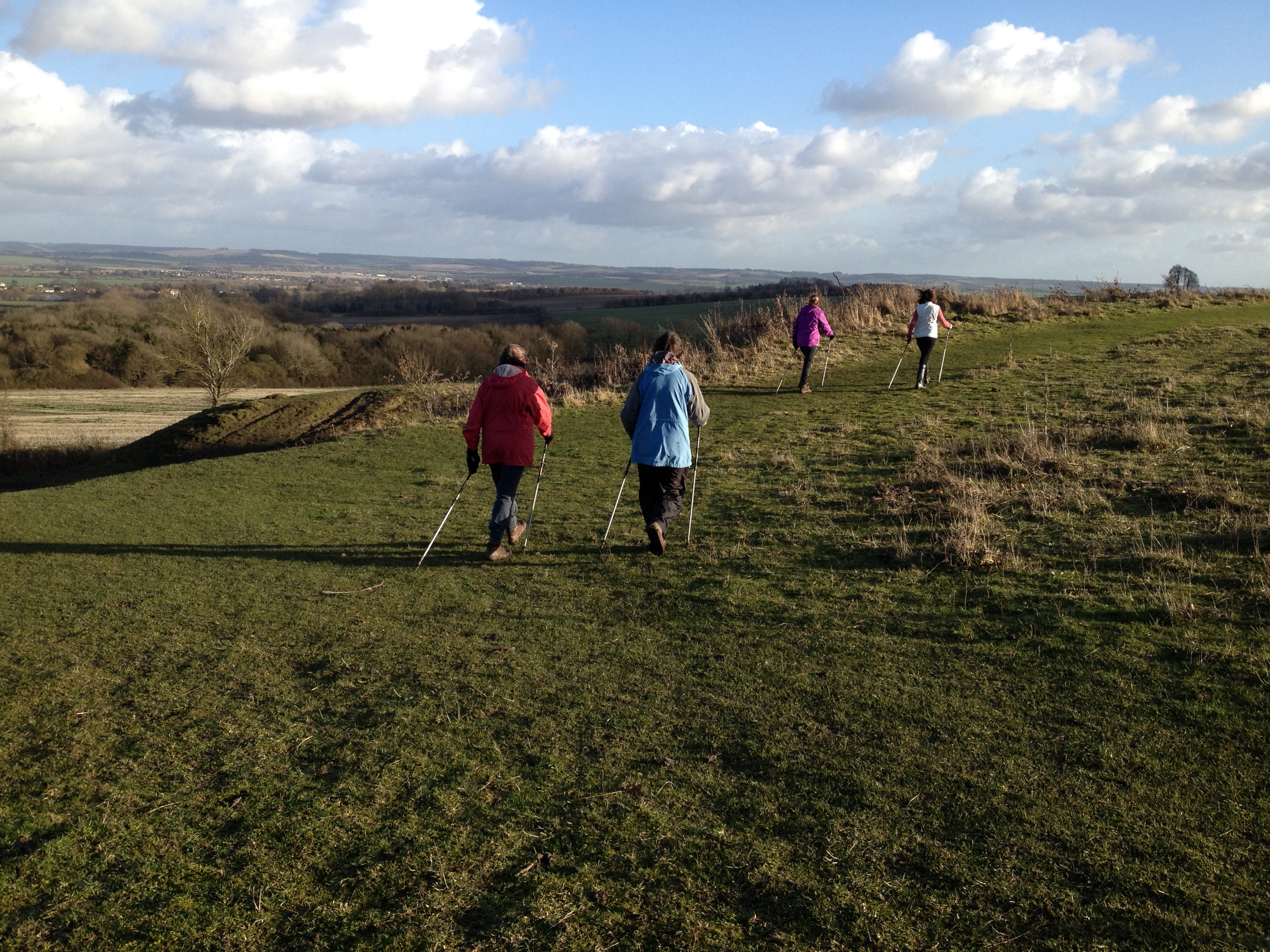 Nordic walking at Wittenham Clumps