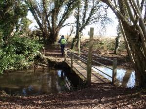 We encountered numerous footbridges on the route